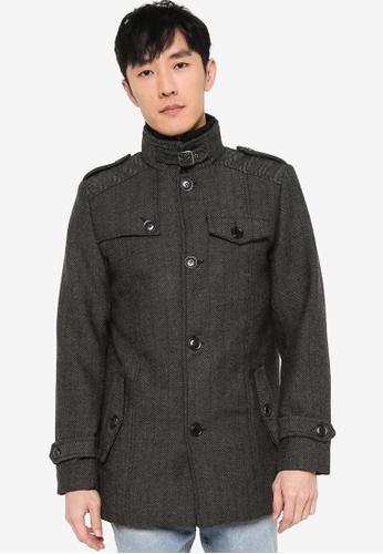 Indicode Jeans black Alvarez High Collar Coat 0E8C6AA2D2E0EBGS_1