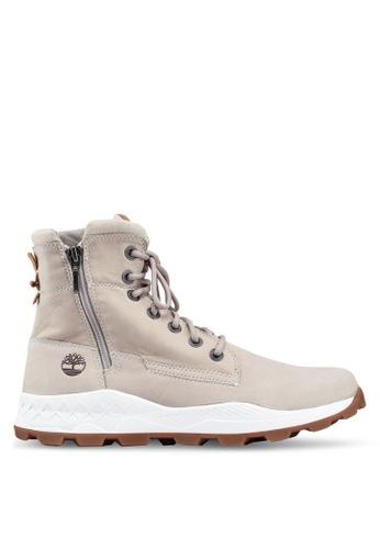 Timberland beige Brooklyn Side Zip Boots C2C04SHC34E2E4GS_1