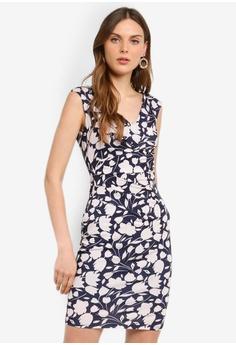 cb7d421fa32 Dorothy Perkins navy Navy Blush Print Dress 8368AAA8AC11E8GS 1