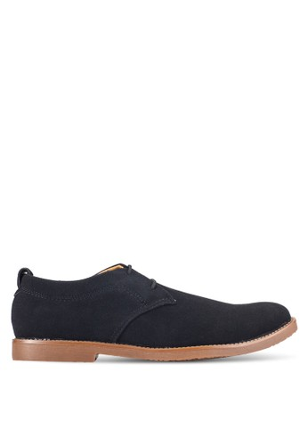 UniqTee black Suede Derby Shoes UN097SH0RFVOMY_1