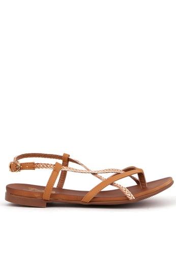 7soles beige Moira Ladies Strappy Sandals A8C2ASH35A21A1GS_1