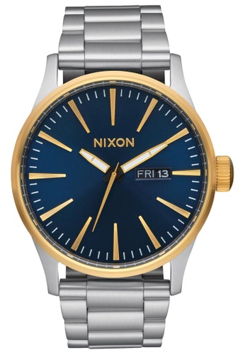 Nixon blue and gold Nixon - Sentry SS - Gold / Blue Sunray NI855AC15KHOSG_1