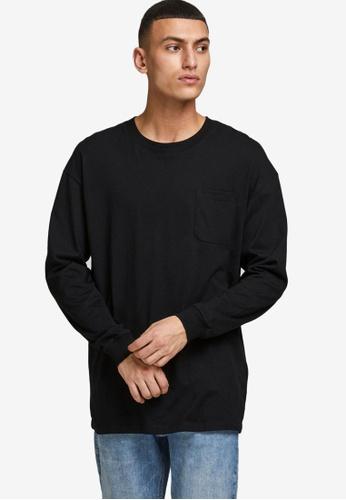 Jack & Jones black Simple Long Sleeve T-Shirt 54816AA0E5DFF3GS_1