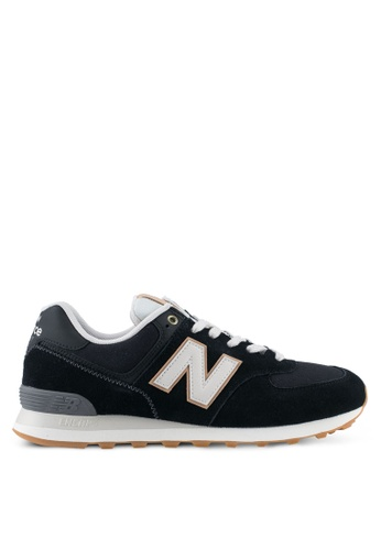 New Balance grey 574 Classic Lifestyle Sneakers NE323SH0SXNBMY_1