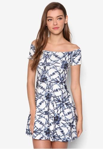Calla 幾何圖形露肩洋裝, 服飾esprit 衣服, 洋裝