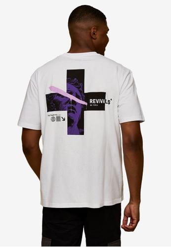 Topman white Revivals Print T-Shirt 7BBDCAACEDA697GS_1