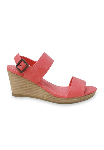 attagirl pink Ladies Synthetic Leather Wedge Sole Sandals AT296SH37DASHK_1