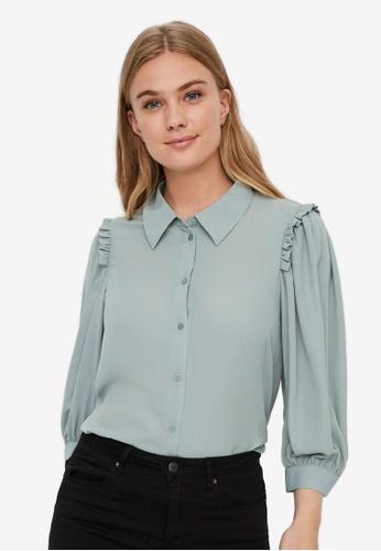 Vero Moda black Poel Pleat Shirt CD4CAAA08E3858GS_1