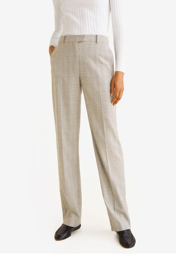 3e2d5c0be463 Buy Mango Check Suit Trousers Online on ZALORA Singapore