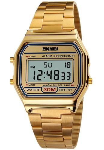 Digitec gold Skmei - Jam Tangan Pria - Gold - Stainless Steel - 1123-F D1DB0ACD64B08FGS_1