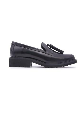 Flatss & Heelss by Rad Russel black Loafer with Tassels - Black D30DASH4371DE7GS_1