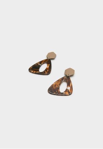 Berrybenka Label brown Yuzza Decyta Stylish Earrings Brown 8B422AC8696189GS_1