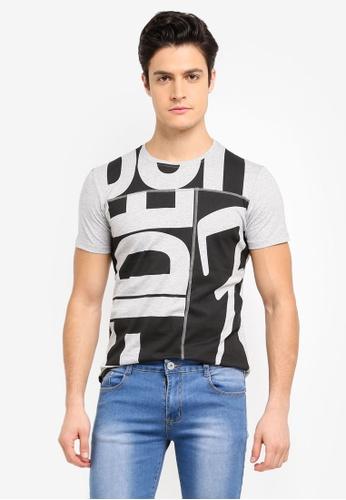 Fidelio grey Cut & Sew Casual Round Neck T-Shirt 36215AABDD27B3GS_1