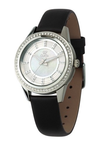 CLETA black and silver Diletto Watch CL733AC75FUEPH_1