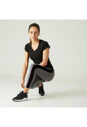 Decathlon Stretchy Fitness Cotton Capri Leggings - 965541 D7527AA0A5139BGS_1