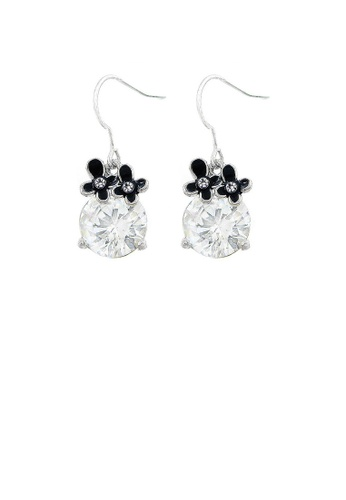 Glamorousky silver Lovely Earrings with Silver Austrian Element Crystal 91D9EACF0EB6B4GS_1