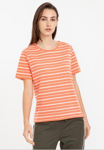 Bossini orange Short Sleeve Print Tee 59466AAE2AAE81GS_1