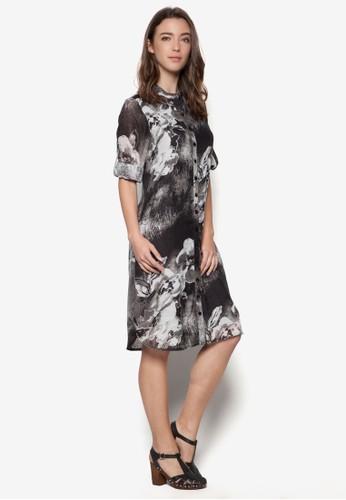 花卉印花襯衫式esprit香港分店洋裝, 服飾, 洋裝