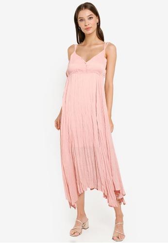 Heather pink Sleeveless Midi Dress 10B37AA7CB08F9GS_1