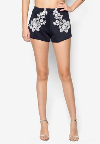 蕾zalora是哪裡的牌子絲貼花短褲, 服飾, 裙子