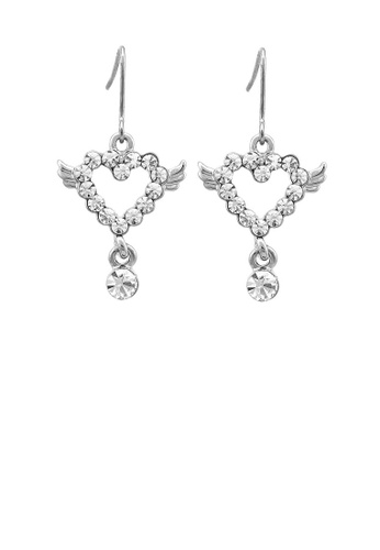 Glamorousky silver Simple Heart Earrings with Silver Austrian Element Crystal BEEC6ACE15FCC1GS_1