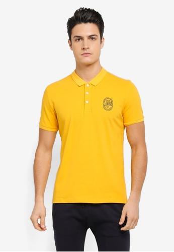 JAXON yellow Jaxon Logo Polo Shirt E625CAAC5BF44EGS_1