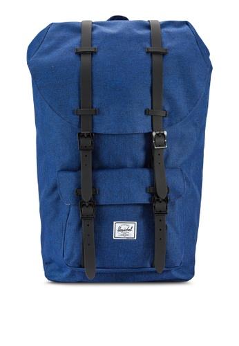 Herschel navy Little America Backpack HE114AC46IDXMY_1