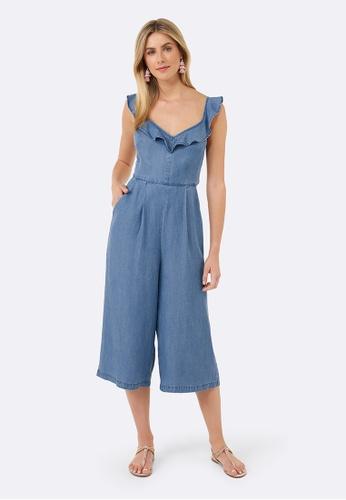 Forever New blue Danni Tie Back Jumpsuit E9C0FAAD690751GS_1