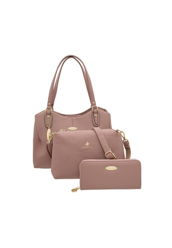 British Polo pink British Polo Sweetie Curve 3 in 1 Handbag 1FD05AC3870BA1GS_1