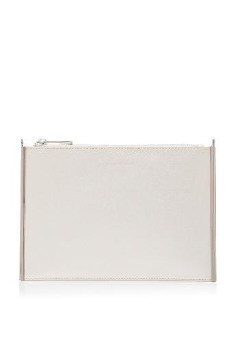 Forever New beige Mini Ariana Zip Top Pouch E60CFAC01F79E5GS_1