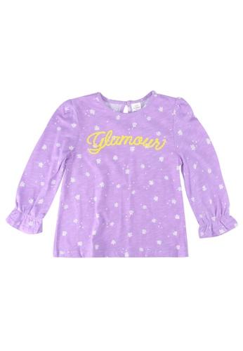 LC Waikiki purple Baby Girl's Printed Cotton T-shirt F29D4KADBF3038GS_1