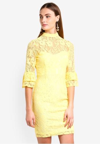 Paper Dolls yellow Lemon Fluted Dress A0ECEAABCF3615GS_1