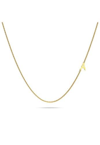 Bullion Gold gold BULLION GOLD Bold Alphabet Letter Initial Charm Necklace in Gold Tone - A 323E4ACB6907E3GS_1