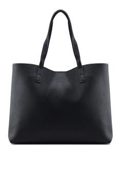7120a603c609 Mango black Pebbled Effect Shopper Bag F5B03AC97BFEDBGS 1