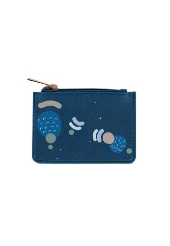Klosh blue and navy Evening Card Case 259F9AC73AC765GS_1