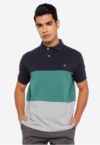 Springfield navy Three Tone Pique Polo Shirt 728ADAA292F7BBGS_1