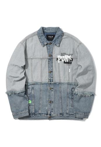 Fivecm blue Punk denim jacket 24CB1AAA08DB11GS_1