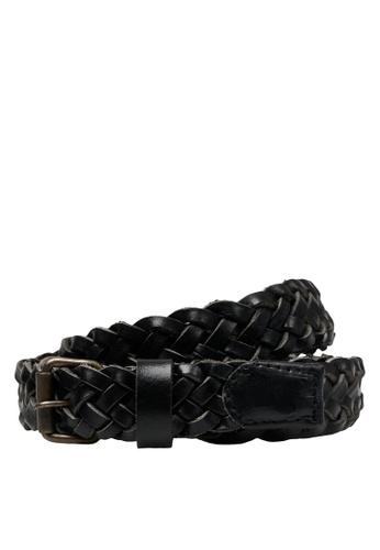 Jack & Jones black Nate Braided Leather Belt 797A9AC3B10098GS_1