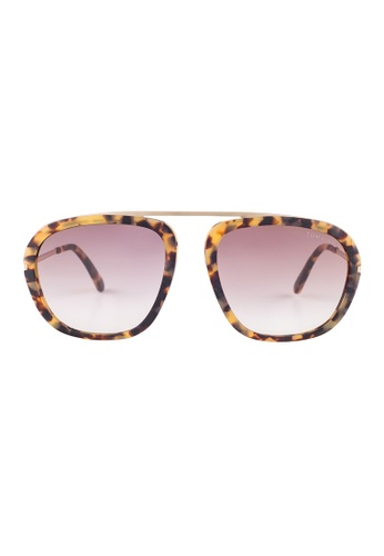 Tom Ford brown TOM FORD Johnson Square Tortoise Sunglasses TF453 TO545AC21JGSMY_1