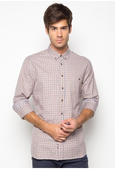 Two Colour Twill Mini Gingham Shirt