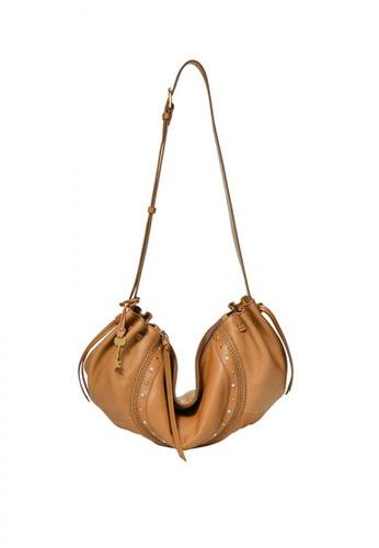 Fossil brown Gigi Crescent Shoulder Bag Leather 7A98BAC561202BGS_1