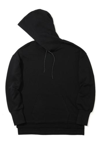 Fivecm black Thermal hem hoodie EE295AA5F761CDGS_1