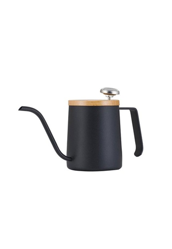 A-IDIO A-IDIO Swan-Neck Kettle - Pour Over Coffee Kettle and Thermometer Set (Black) 1C3A8HLE539C5EGS_1