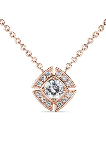 Her Jewellery gold Windmill Pendant (Rose Gold) - Made with premium grade crystals from Austria 865D5ACBAFEE53GS_1