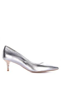 51f34d7f32 Dune London silver Aspire Closed Toe Heels 34853SHB416BBCGS_1