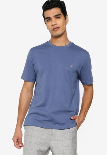 Brooks Brothers blue Mens Knit T-Shirt E8D30AA9000FAEGS_1