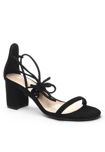 Twenty Eight Shoes 黑色 羅馬綁帶涼鞋5691-11 F32C8SH87E717DGS_1