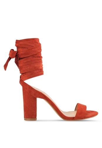 ZALORA brown Tie Up Heel Sandals 9592BSHACCA12EGS_1