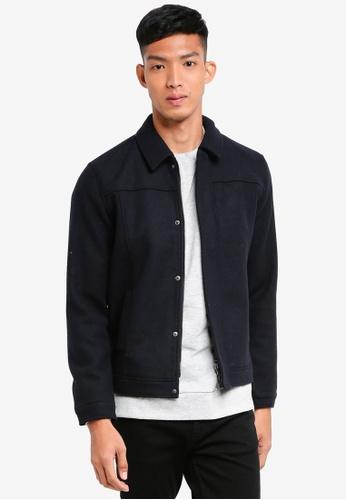 Only & Sons 海軍藍色 羊毛夾克外套 5A6A5AABCCC8ECGS_1