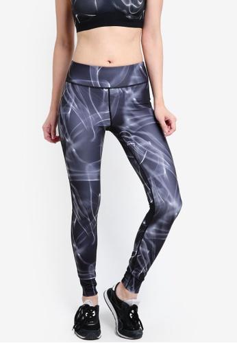 Calvin Klein black Mesh Insert Full Length Leggings - Calvin Klein Performance CA221AA13VSCMY_1